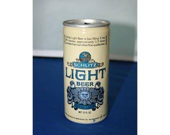 Vintage Schlitz Light Special Lager Beer Can Aluminum Opened Pull Tab Bar Memorabilia Barware Collectible Breweriana Advertisement Ephemera
