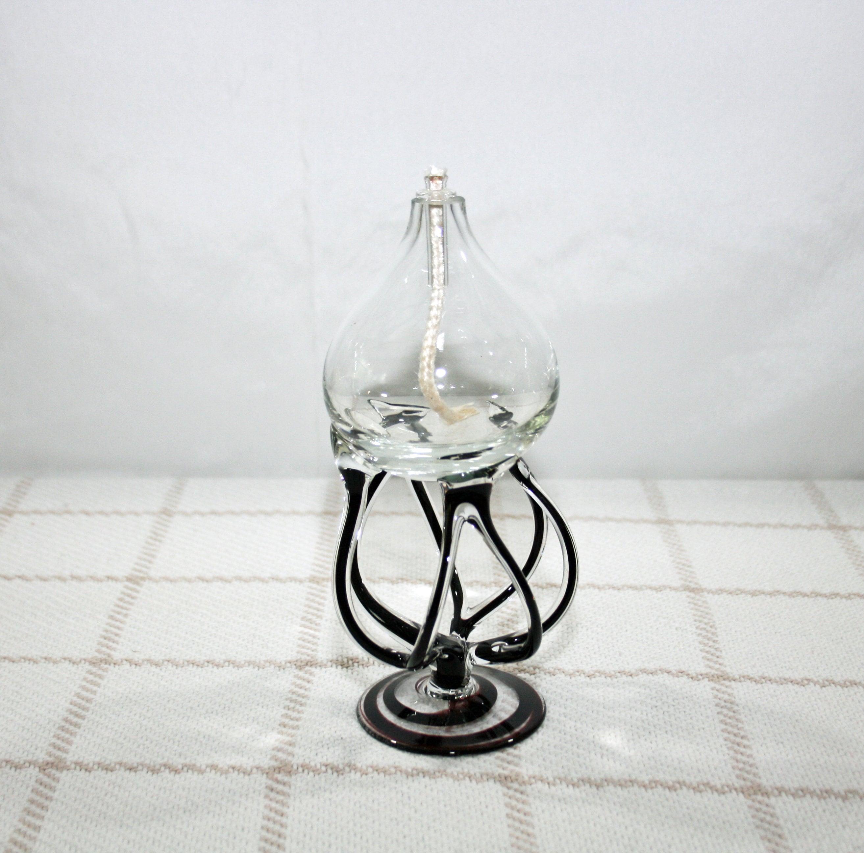 Vintage Swirl Glass Spider Glass Retro Glass Octopus Glass Krosno Jozefina Glass Lamp Vintage Oil Lamp Polish Glass Glass Oil Burner