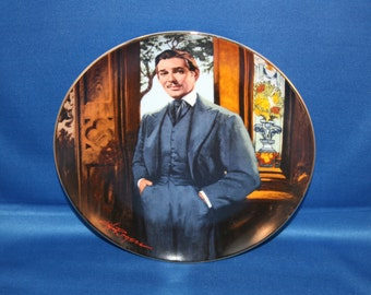 Vintage Rhett Butler Gone with the Wind Plate Bradford Exchange Collectors Plate Frankly My Dear Scarlett O Hara Cabinet Plate W S George