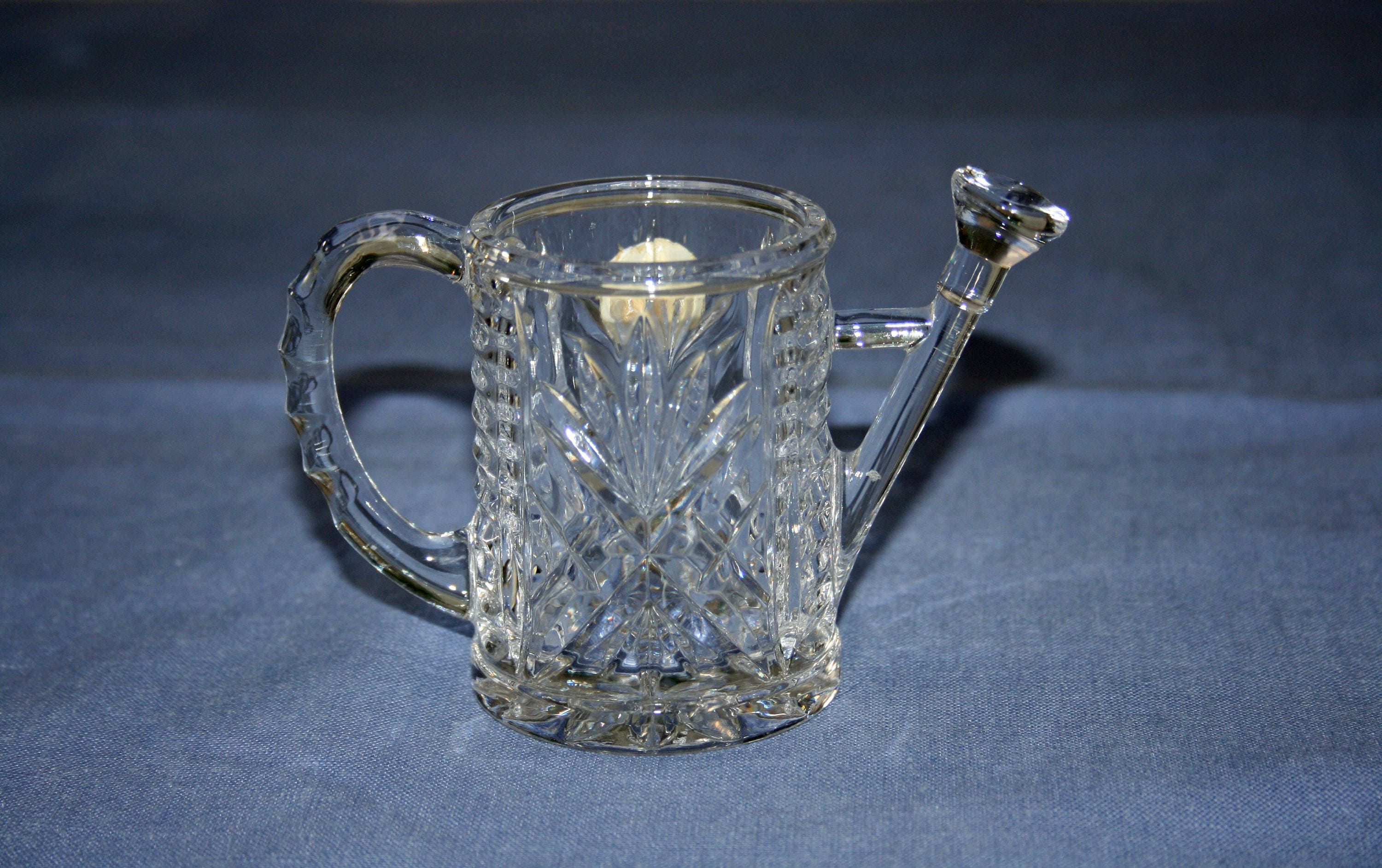 Vintage Princess House Crystal Watering Can Candle Holder
