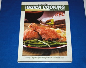 Taste of Home 's 2009 Quick Cooking Annual Recipes Cookbook Hardcover Recipe Dessert Meals Contest Winning Dishes Cook Book Menu Planner