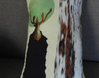 Deer drawing cushion