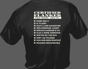 certified flanker (for K-9 SAR )