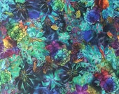 Floral Swimsuit Fabric Athletic Swim Spandex