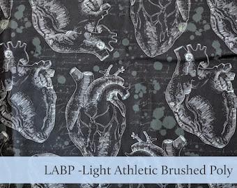 Heart Anatomy Athletic Brushed Poly Light LABP