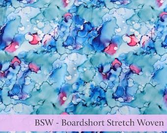 Paint Splash Boardshort Stretch Woven BSW Fabric