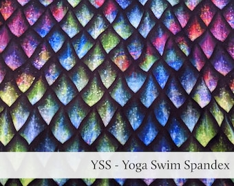 Dragon Scales Swimsuit Fabric Athletic Spandex Tricot