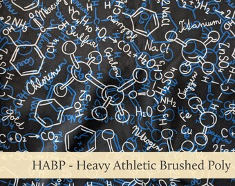 Science Molecules Athletic Brushed Poly Heavy HABP
