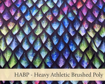 Dragon Scales Athletic Brushed Poly Heavy HABP