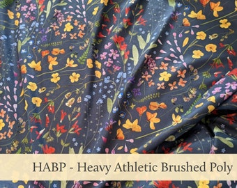 Floral Athletic Brushed Poly Heavy HABP
