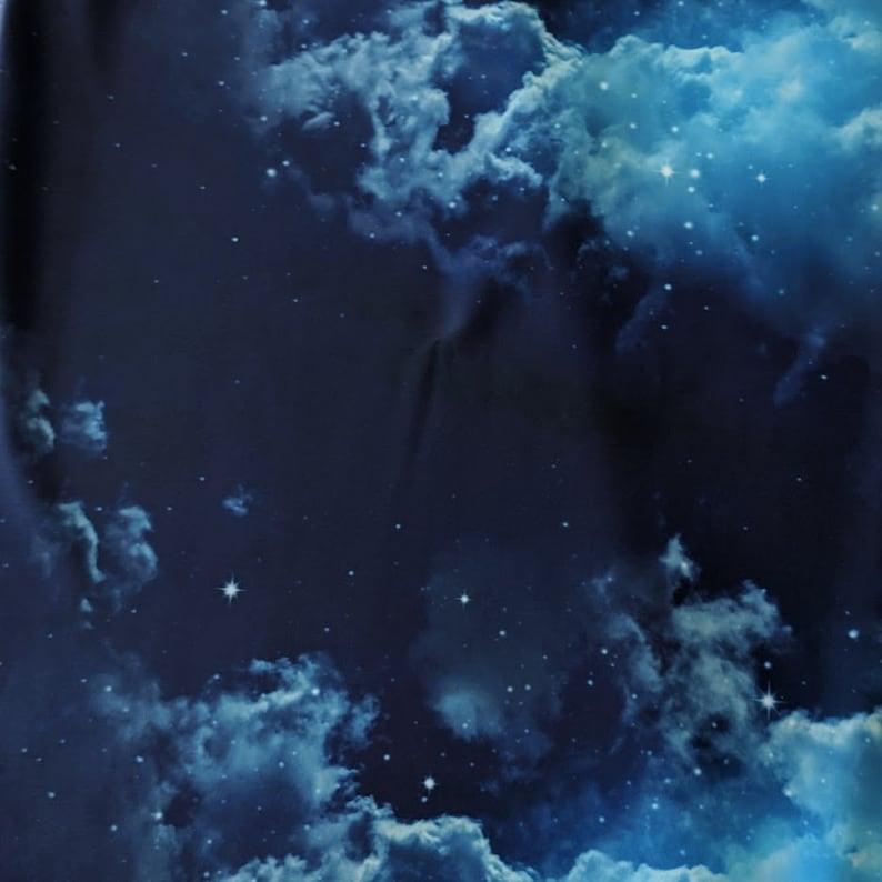 Cloud Swimsuit Fabric Blue Sky Space Spandex
