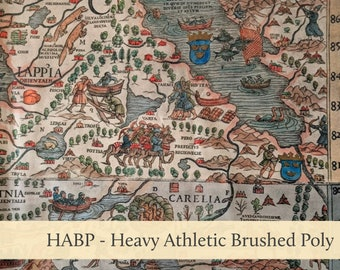 Carta Marina Sea Map Athletic Brushed Poly Heavy HABP