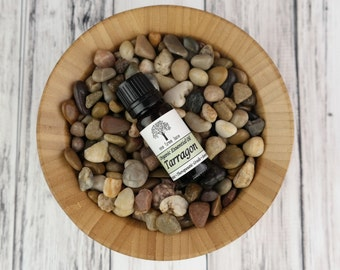 Organic Tarragon Essential Oil • Pure • Uncut • Therapeutic Grade • USA • 10ml / 0.3 oz Amber Glass Bottle With Dropper Caps
