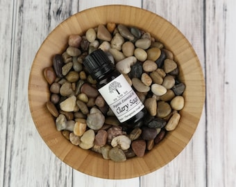 Organic Clary Sage Essential Oil 10ml With Dropper Caps