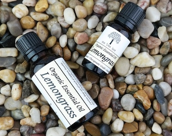 Organic Lemongrass Essential Oil • Theraputic Grade • Pure • Uncut • With Dropper Caps • 10ml or 30 ml