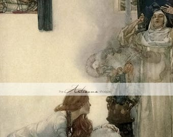 William Russell Flint Fine Art Antique Image - Digital Download Printable - Paper Crafts Scrapbooking Altered Art - Watercolor Victorian Art