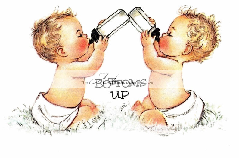 7729c04e3 Digital Download Printable Art Vintage Baby Twins Babies