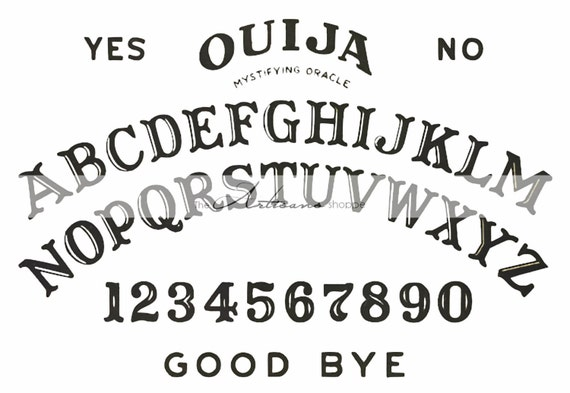 photograph about Printable Ouija Boards titled Instantaneous Artwork Printable Obtain - Ouija Board Impression - Paper Crafts Changed Artwork Sbook - Mystical Ouija Fortune Conversing Spirit Board