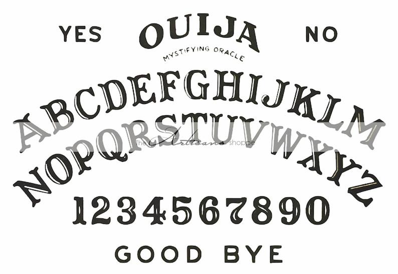 Instant Art Printable Download - Ouija Board Image - Paper Crafts Altered  Art Scrapbook - Mystical Ouija Fortune Talking Spirit Board