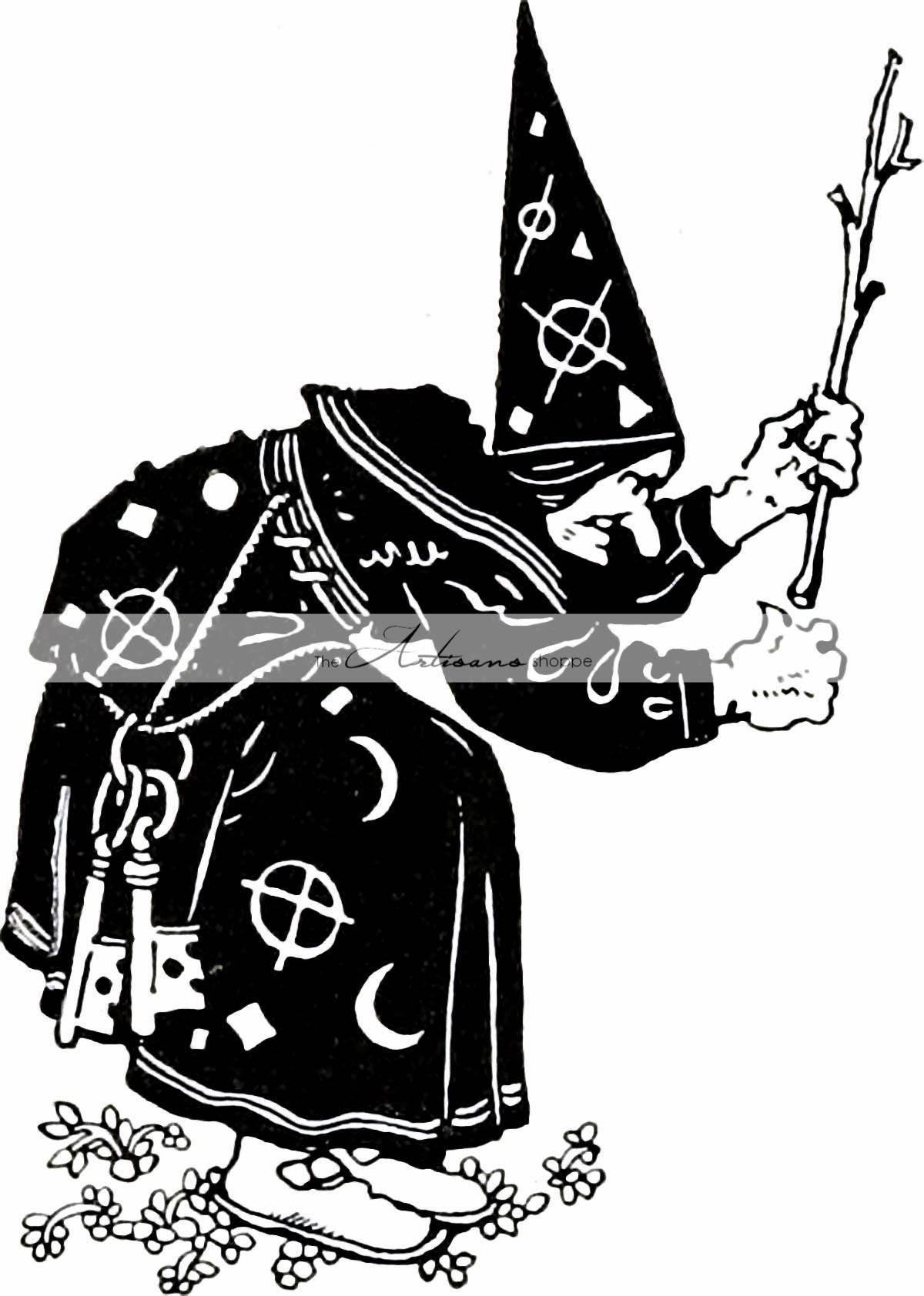 Digital Download Printable Art Sorceress Magic Witch