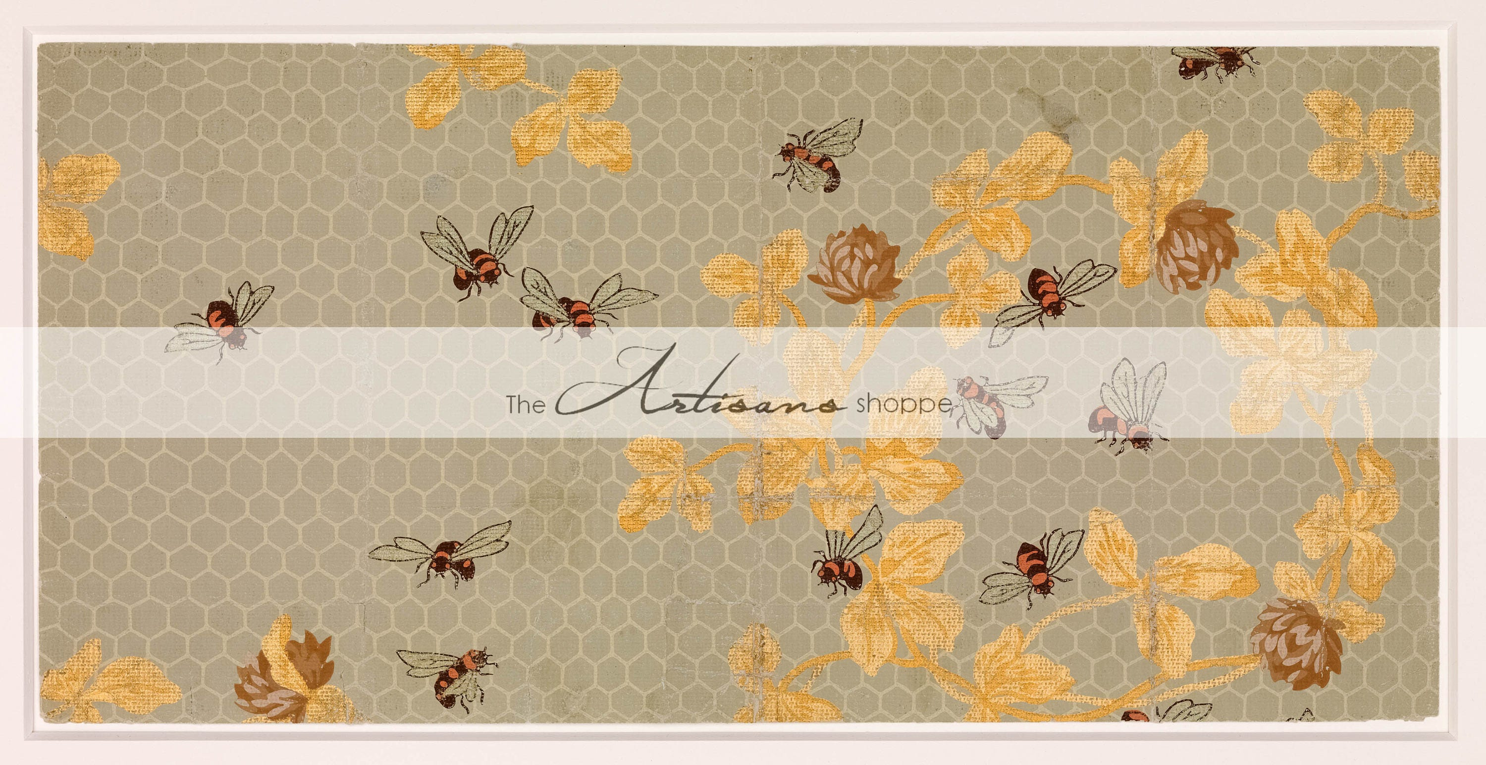 honey bees comb bee antique vintage wallpaper art design image | etsy