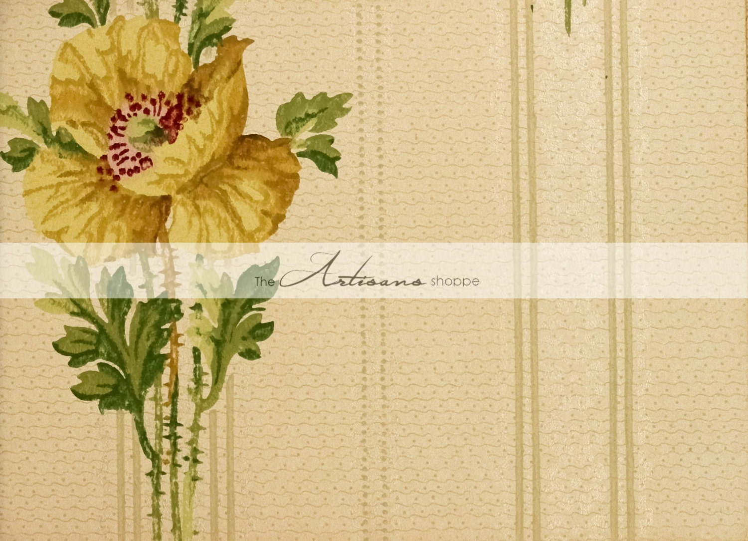 Printable Art Instant Download Antique Vintage Yellow Flower | Etsy