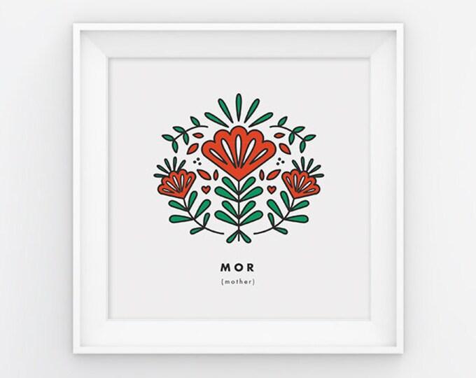 Nordic, Mother, Mor, Scandinavian print, Modern art, Digital print, Mothers day, Wall art, Printable wall art, printable art, Norwegian