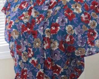 SALE! Items California Vintage Floral Dress Modern Size M-L Very Cute design!