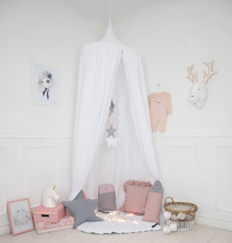 Baldachin Girls Bed Canopy Nursery Canopy Hanging Play | Etsy