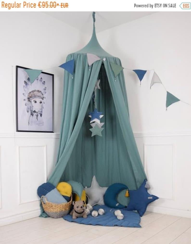 quality design 9ba47 1441b ON SALE Green Baldachin, Nursery Canopy, Hanging Play Tent, Sage Crib  canopy, Play Canopy, Children's Canopy, Bed Canopy, Reading Nook, Hang