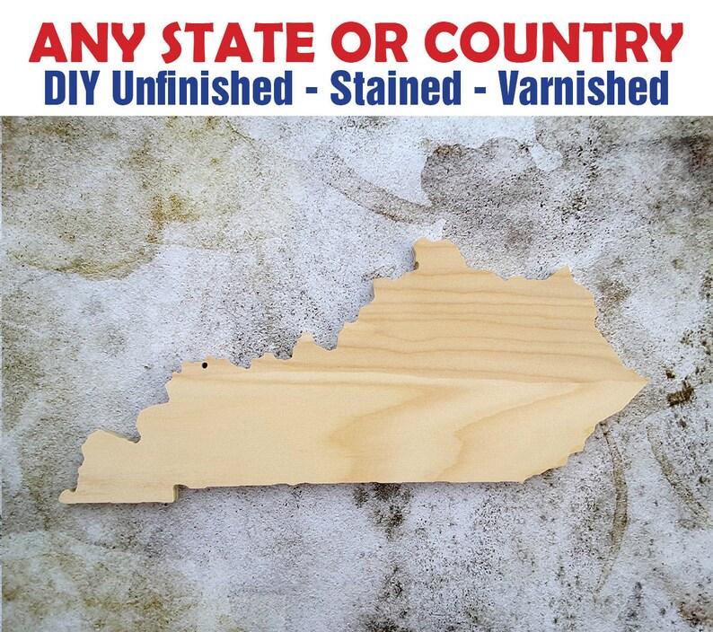 Kentucky Kentucky Wood Cutout Kentucky Wall Art Kentucky State Kentucky Wood Sign Kentucky Kentucky Wood Wooden Kentucky Sign
