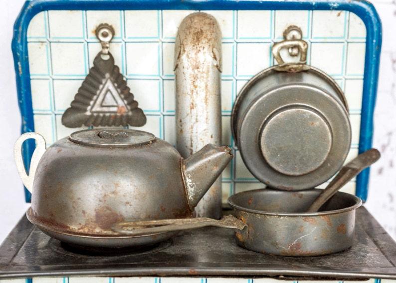 Retro Tabak Keukens : Vintage blikken metalen speelgoed keuken fornuis zeldzame etsy