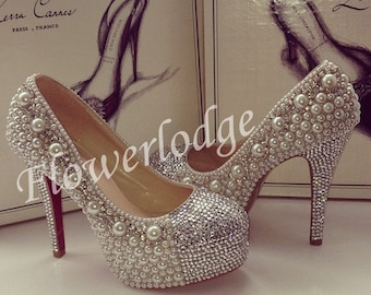 7f04ff594791b Sandals Womens-Swarovski crystal rose gold AB color sparkle | Etsy