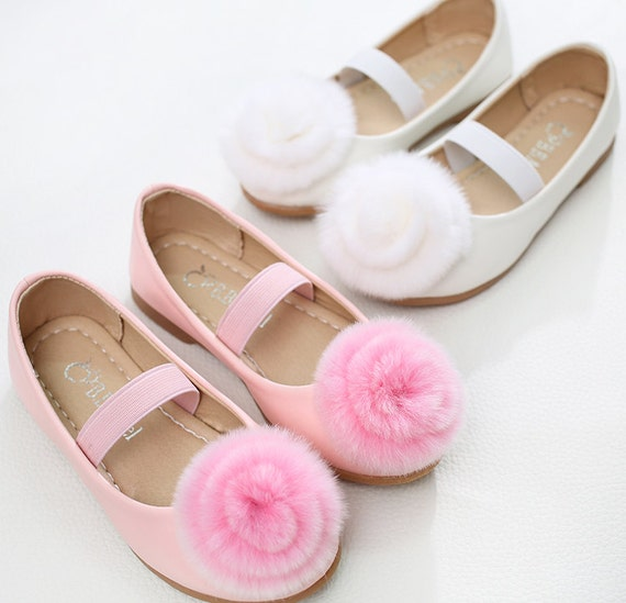 White flower girl shoes cute girl shoespearl party etsy image 0 mightylinksfo