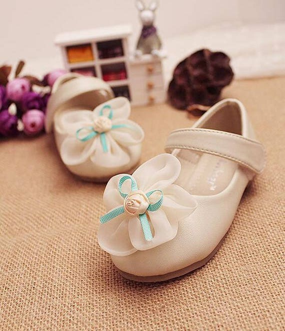 Off white girls shoes toddler flower girl shoes youth girl etsy image 0 mightylinksfo