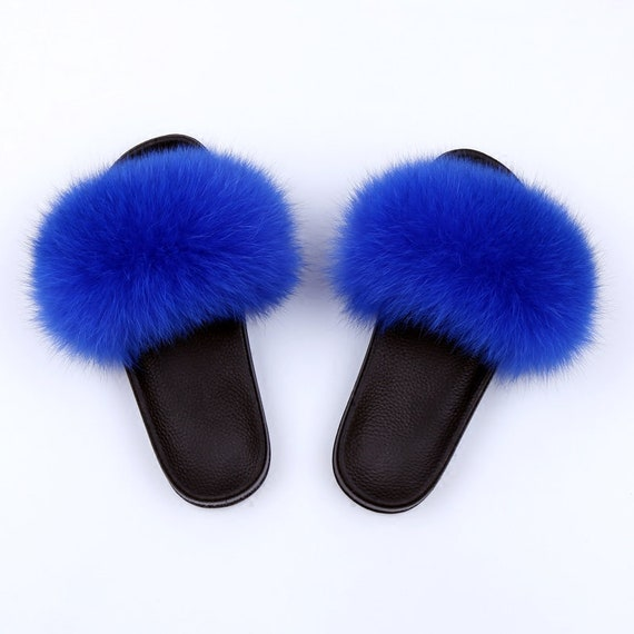 coupon codes high fashion fashion Light Brown Fur Slippers Pom Pom Sandals Slippers for Women | Etsy