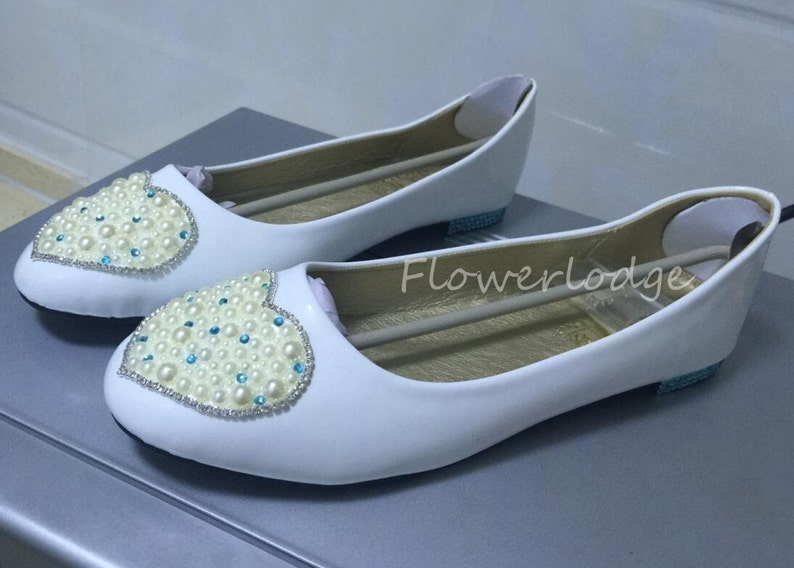 2b937419d38f4 White Real Leather Ballet Flats Women Shoes Prom Girls