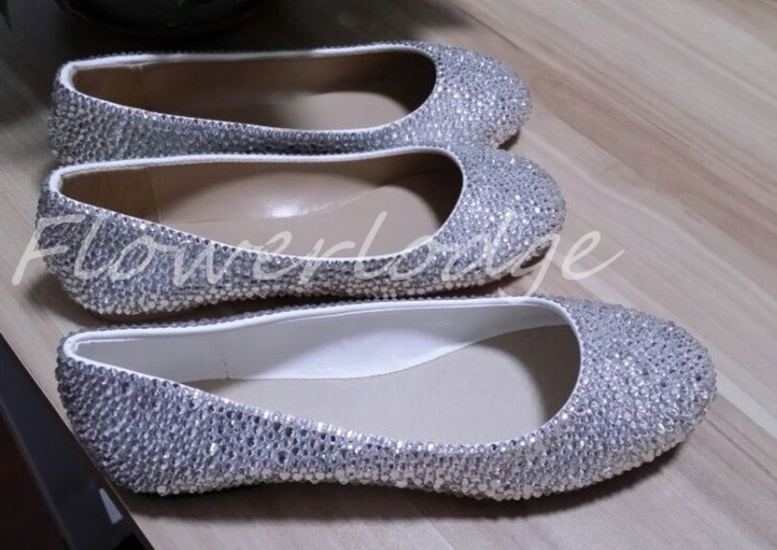 white crystal ballet flats shoes, rhinestone women slippers, customize pumps prom heels, crystals prom shoes flat shoes peep toe