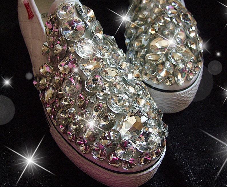 Clean stones sparkle canvas shoes-bling comfortable sneaker  f6385c99d