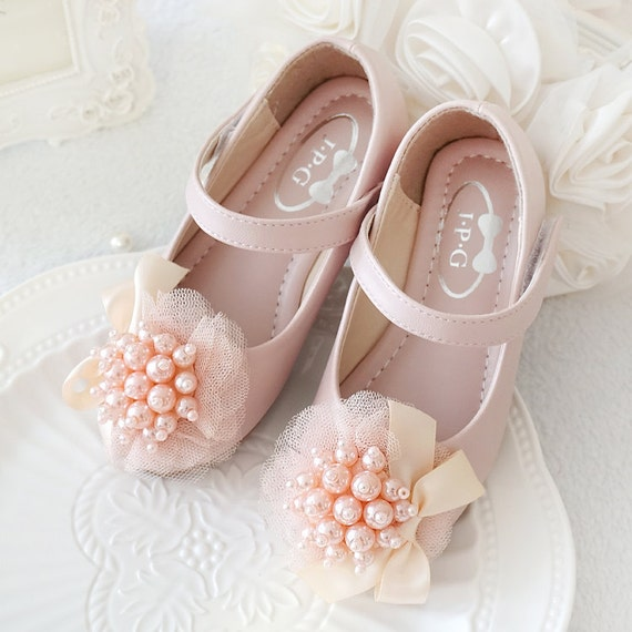 Light Pink Girls Shoes Toddler Flower Girl Shoes Youth Girl Etsy