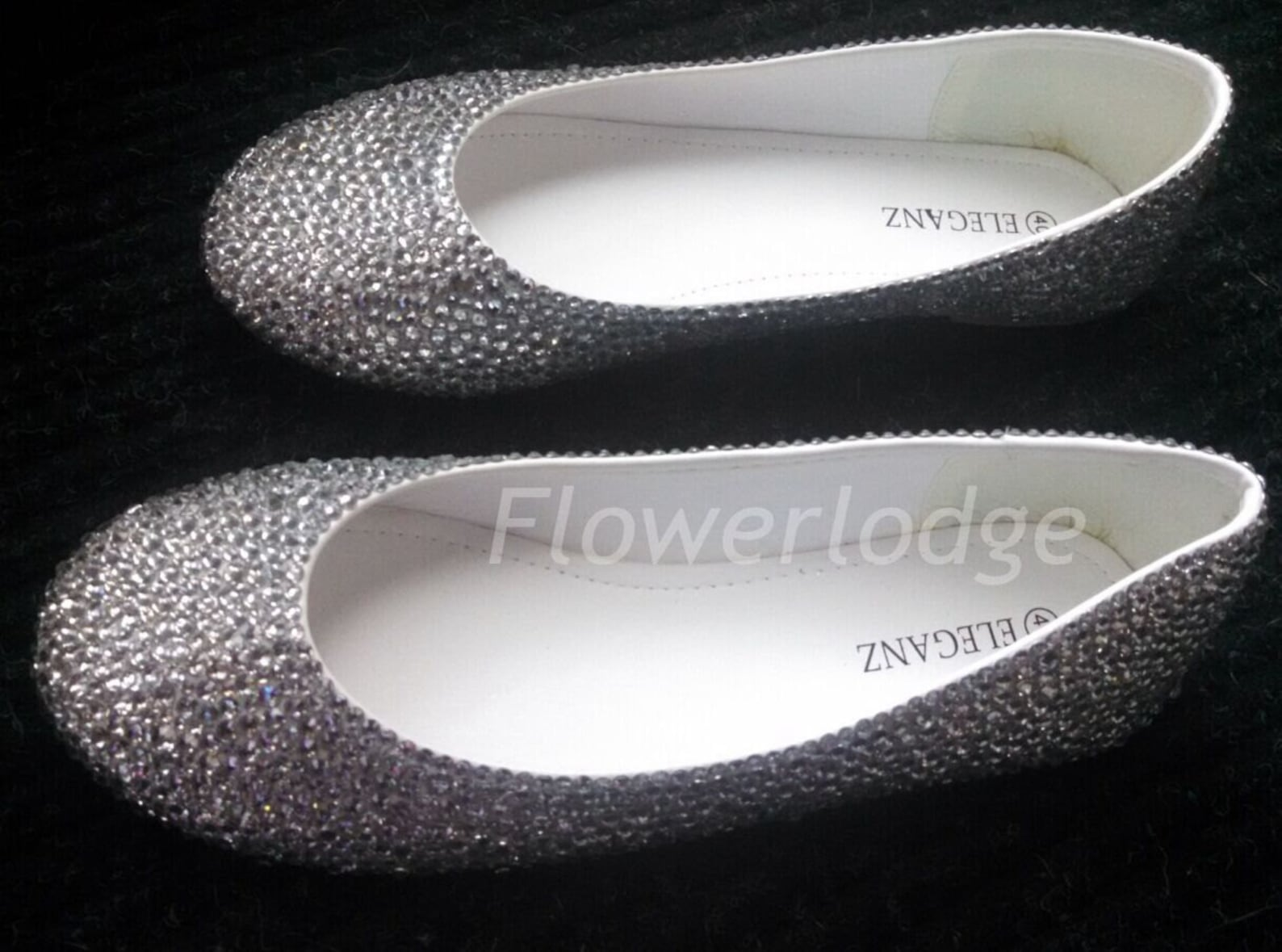 glitter ballet flats clean rhinestone women ballet slippers closed toe white sliver crystal handmade prom shoes customize women