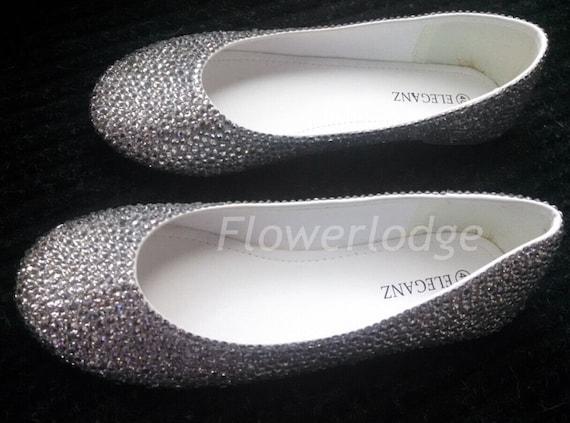 glitter ballet flats clean rhinestone women ballet slippers  86de99b7d