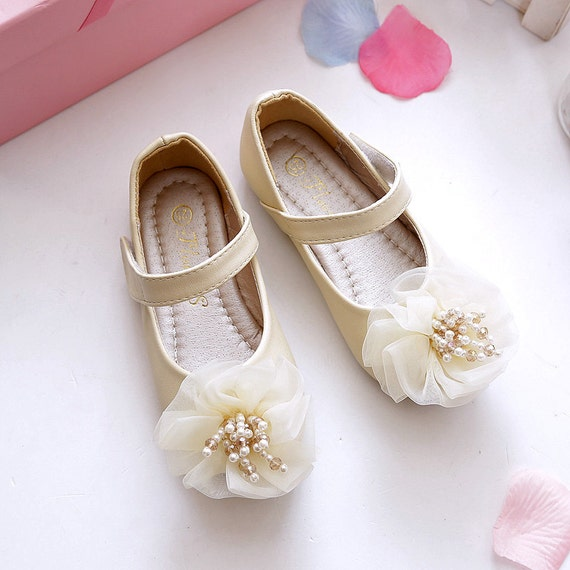 41b334941696c Ivory Soft Leather Toddler Girl Shoes Lace Floral Flower Girl Shoes Beads  Pearls Customize Toddler Youth Girls Shoes
