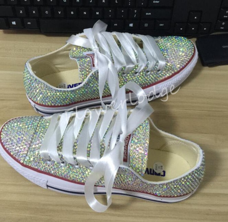 1e3dbd04722d Rhinestone Converse Shoes sparkly converse sparkle AB crystal