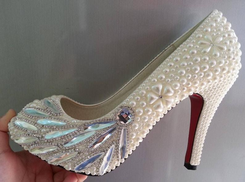 Ivory women slippers clean rhinestone women heels custom girls  d33e5842b401