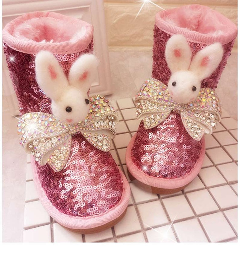 Cute girls boots hot pink sparkly bling bling toddler youth  b32a5d1de55d