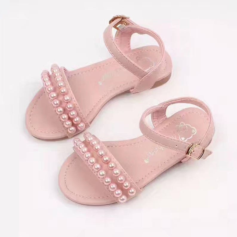 bbced4ff0473d Pink Girls Shoes sandals Pearls