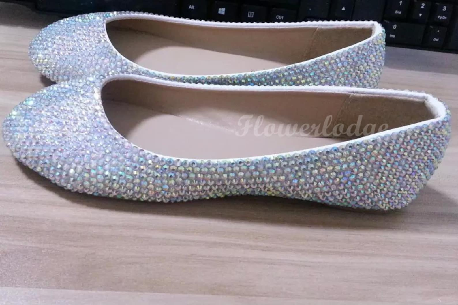crystal flats shoes rhinestone sparkle custom flats closed toe ballet flat shoes, custom peep toe flats soft comfortable flat sh