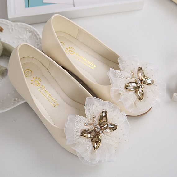 6cb4f0110d7 Ivory Girls Shoes Toddler Flower Girl Shoes Champagne