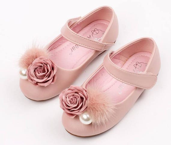 Pink girls shoes toddler flower girl shoes youth girl etsy image 0 mightylinksfo